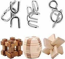 Vengo 6Pack Metall Knobelspiele Set Rätsel