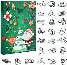 Vengo Adventskalender 24St. Metall Knobelspiele