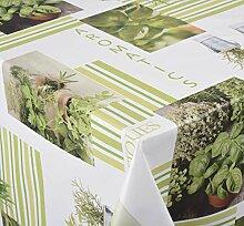 Venilia green herbs Tischdecke Tischtuch