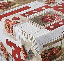 Venilia Red tomato rund 140cm Tischdecke,