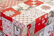 Venilia Weihnachtstischdecke, abwischbar, schmutz-