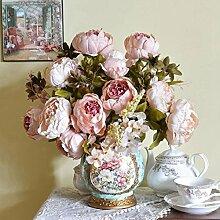 VENMO 1 Bouquet 8 Köpfe Künstliche Pfingstrose