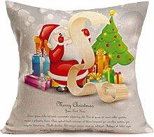 VENMO Fröhliche Weihnachten Leinen Kissenbezüge