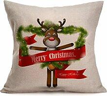 VENMO Frohe Weihnachten Leinen Kissenbezüge Sofa