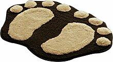 VENMO Soft Feet Memory Foam Bad Badezimmer Schlafzimmer Boden Duschmatte Teppich Badematte rutschfest Badezimmer Dusche Teppiche Shaggy Holzbadematte Holzmatte Duschvorleger Badematte Bade-Teppich (Coffee)