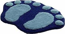 VENMO Soft Feet Memory Foam Bad Badezimmer Schlafzimmer Boden Duschmatte Teppich Badematte rutschfest Badezimmer Dusche Teppiche Shaggy Holzbadematte Holzmatte Duschvorleger Badematte Bade-Teppich (Blue)
