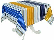 Vent du Sud 160eccapso Tischdecke, beschichtet, Acrylbeschichtung/Behandlung, schmutzabweisend/Baumwolle Gelb 160x 160x 1cm