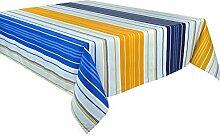 Vent du Sud 200eccapso Tischdecke, beschichtet, Acrylbeschichtung/Behandlung, schmutzabweisend/Baumwolle Gelb 200x 160x 1cm
