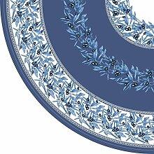 Vent du Sud Grimaud Tischdecke, beschichtet, Grimaud rund 160cm Baumwolle blau in Farbschattierungen 160x 160cm