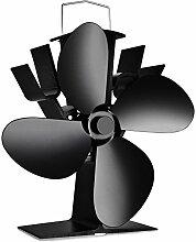 Ventilator für Holzöfen KaminÖfen Stromloser Öfen Ventilator 4 Flügel