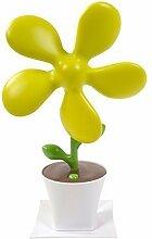 Ventilator im Blumendesign Schreibtischventilator USB-Lüfter (gelb)