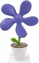 Ventilator im Blumendesign Schreibtischventilator USB-Lüfter (lila)