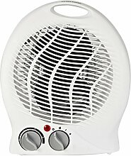Ventilator mit Heizfunktion weiß 2 in 1 Kühler Raum-Lüfter Luft-Erfrischer Lüftung Heiz-Lüfter