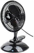 Ventilator tragbar Tischleuchte schwenkbar, leise Cyclone mit Clip Mini Klein Highly schwarz 20cm 15W