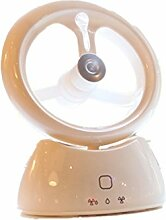 Ventilatoren USB,Beschlagen Kühlung Ventilator,Mini Standventilator/Handventilator,mit Kühlung Nebel Luftbefeuchter, vernebler Ventilatoren,Charge Vielfalt USB wiederaufladbar-Der perfekte Begleiter an warmen Sommertagen - mit Wasser schön erfrischend! (Weiß)