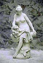 Venus mit Krug, Steinfigur, Gartenfigur Farbe rostfarben