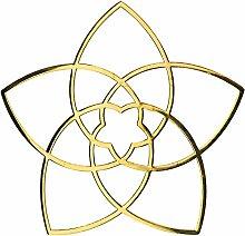 Venusblume 3D-Metall-Aufkleber - EnerChrom Ø 3cm GOLD - 2er-Pack