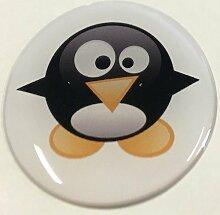 Ver03_Pinguin_42.jpg - Motiv-Aufkleber mit hochwertiger Doming-Beschichtung für den STECKEL-Steckdosen-Deckel Staubschutzdeckel