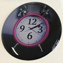 Ver03_Uhr_04 - Motiv-Aufkleber mit hochwertiger Doming-Beschichtung für den STECKEL-Steckdosen-Deckel Staubschutzdeckel