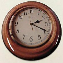 Ver03_Uhr_48 - Motiv-Aufkleber mit hochwertiger Doming-Beschichtung für den STECKEL-Steckdosen-Deckel Staubschutzdeckel