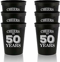 Veracco Partybecher zum 50. Geburtstag, Geschenk