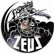 Veraltete Zeus Vinyl Schallplatte Tischuhr Antike