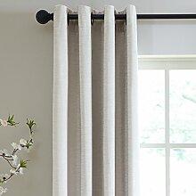 veratex die Majestät Fenster Kollektion Made in die USA 100% Chenille Wohnzimmer Tülle Fenster Schiebevorhang, silber, 213,4cm