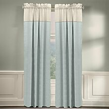 veratex die Monterey Fenster Kollektion Made in die USA 100% Leinen Wohnzimmer Rod Pocket Fenster Schiebevorhang, Pearl, 160cm