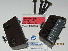 Verbindungsbeschlag zum Aufschrauben, braun, 4 Stk., 0350366