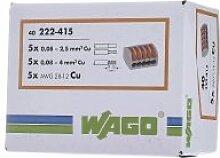 Verbindungsklemme 5x0,8-4qmm gr 222-415,Elektroinstallation,WAGO Kontakttechnik,222-415,4044918464956
