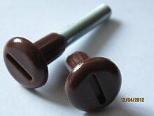 Verbindungsschrauben braun für Schränke und Schrankwände 8/M6, 45 - 54 mm, 16 Stück, 18043