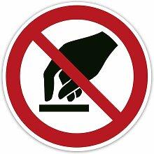 Verbot-Aufkleber 2 Stück - Berühren verboten