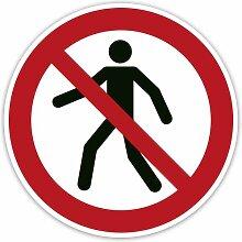 Verbot-Aufkleber 2 Stück - Für Fußgänger