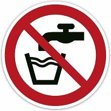 Verbot-Aufkleber 2 Stück - Kein Trinkwasser (ISO