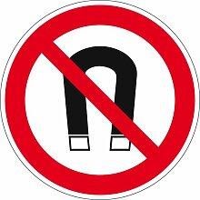 Verbotszeichen - Magnet verboten - Aluminium