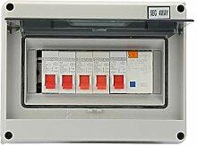 Verbrauchereinheit 63A 30mA RCD 4MCB 2 * 6A + 20A