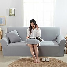 VERCART Abdeckung Sofa-Abdeckung erweiterbaren Solid Color Salon 3 Plätze 190-230CM