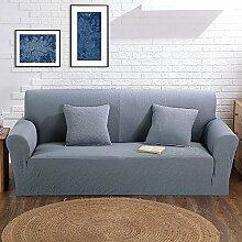 VERCART Abdeckung Sofa-Abdeckung Extensible Salon Dekoration 3 Orte Grau