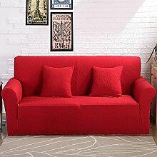 VERCART Abdeckung Sofa-Abdeckung Extensible Salon Dekoration Rot 3 Plätze