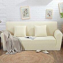 VERCART Abdeckung Sofa-Abdeckung Extensible Salon Dekoration Beige 3 Plätze