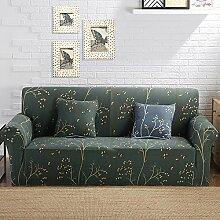 VERCART Abdeckung Sofa-Abdeckung Stoff Elastic Stretch Fleuri 3 Plätze