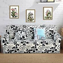 VERCART Abdeckung Sofa-Abdeckung Stoff Elastic Stretch Fleuri 2 Plätze
