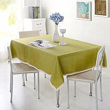 VERCART Baumwolle Leinwand Tischdecke mit