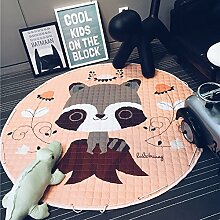 VERCART Kinder Spielmatte Baumwolle Stoff Teppich
