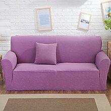 VERCART Sofa Abdeckung Abdeckung Extensible Salon Dekoration Lila 4 Plätze