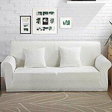 VERCART Sofa Abdeckung Abdeckung Extensible Salon Dekoration Platz 1 Weiß