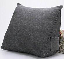 Vercart Sofa Rückenlehne Kopfkissen,Keilkissen, Rückenkissen, Fernsehkissen, Ergokissen weich und bequem aus softer Microfaser,50*35*20cm, waschbar Mischfarbe