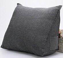 VERCART wedge pillow Bed Wedge Pillow Sofa Rückenlehne Kopfkissen,Keilkissen, Rückenkissen, Fernsehkissen, Ergokissen weich und bequem aus softer Microfaser,50*35*20cm, waschbar Mischfarbe