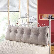 VERCART Wedge Pillow Bed Wedge Pillow Sofa Rückenlehne Kopfkissen, Keilkissen,Rückenkissen, Fernsehkissen, Ergokissen Weich Lesekissen Stützkissen Bettkissen Grau 100cm