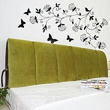 VERCART Wedge Pillow Bed Wedge Pillow Sofa Rückenlehne Kopfkissen, Keilkissen,Rückenkissen, Fernsehkissen, Ergokissen Weich Lesekissen Stützkissen Bettkissen Grün 150cm
